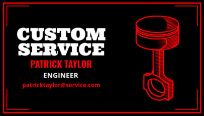 Business Card Template for Custom Automotive Services 557