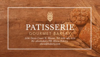 Gourmet Bakery Business Card Template 572