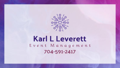 Business Card Template for Event Management Company 85a