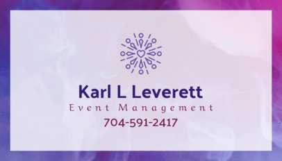 Business Card Template for Event Management Company 85a--1762