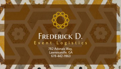 Event Logistics Business Card Template 85b