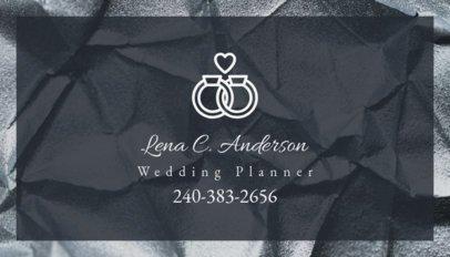 Wedding Planner Business Card Template 85c--1762