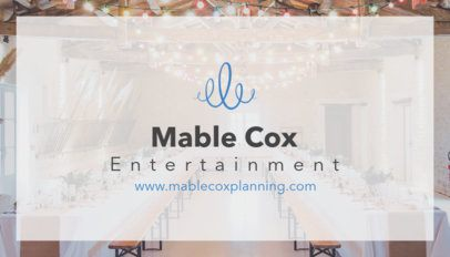 Entertainment and Party Planner Business Card Maker 85e--1762