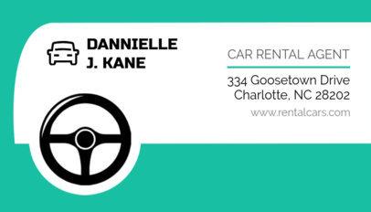 Rental Car Agent Business Card Template 559b