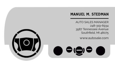 Business Card Maker for Car Salesmen 559e