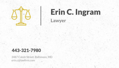 Business Card Maker for Law Firm 566