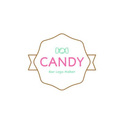 Confectionary Logo Creator with Dots 1389c