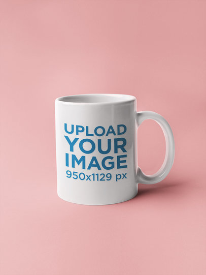 Coffee Mug Mockup on a Flat Surface 22366