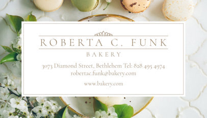 Bakery Business Card Generator 61