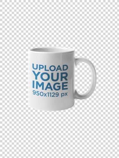 Coffee Mug Mockup Against a Transparent Backdrop 22484