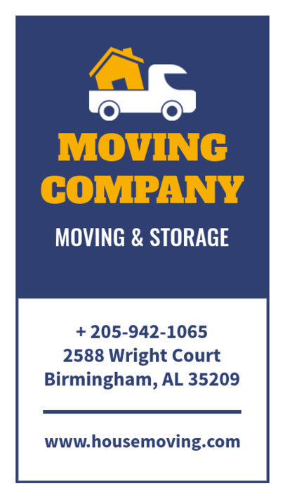 Business Card Creator for Movers 554
