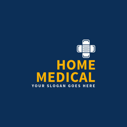 Medical Logo Design Template with Health Icon 1368a