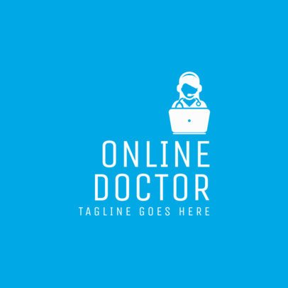 Healthcare Logo Template for Online Doctors 1368d