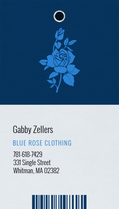 Apparel Brand Business Card Template 550b