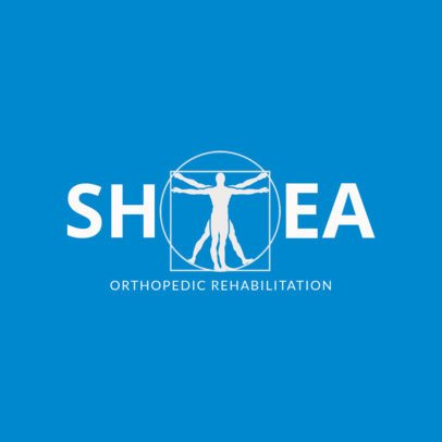 Orthopedic Rehab Logo Design Template 1367b