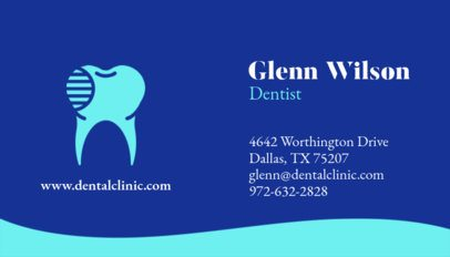 Simple Dental Professional Business Card Template 562b