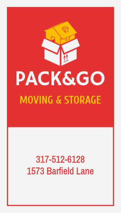 Online Business Card for Moving and Storage Services 554c