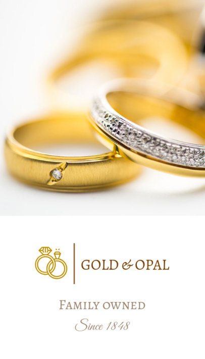 Vertical Business Card Template with Jewelry Images 569c
