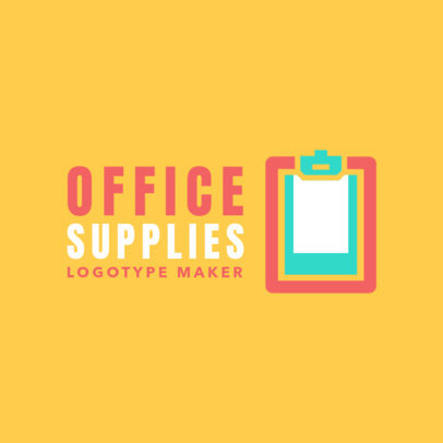 Office Supplies Logo Creator 1380e
