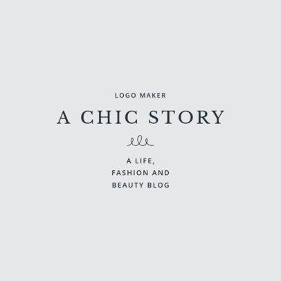 Chic Fashion Expert Logo Template 1410b