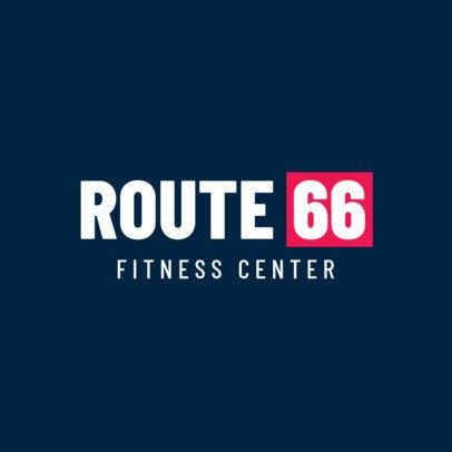 Gym Logo Maker for Fitness Studios 1358e