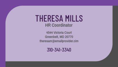 Coordinator Business Card Maker 555e