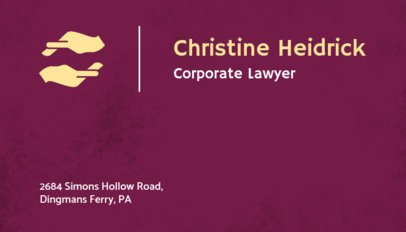 Simple Business Card Maker for Corporate Lawyers 566b