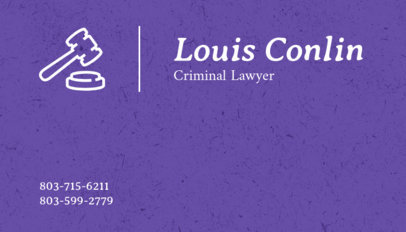 Criminal Lawyer Business Card Template 566c