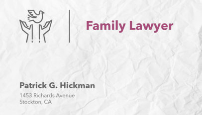 Family Law Practice Business Card Maker 566d
