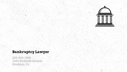 Business Card Template for Bankruptcy Lawyers 566e
