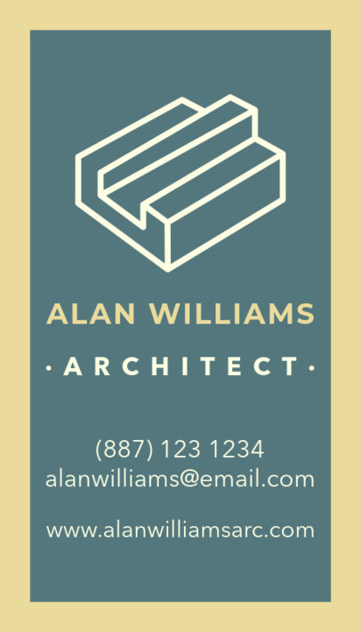 Business Card Maker with Simple Graphics for Architects 17b