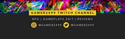 Twitch Banner Maker With Glitch Effects  594