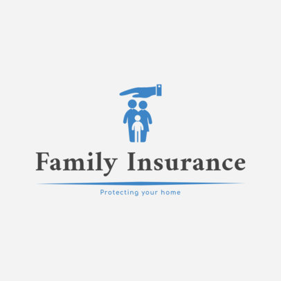 Logo Design Maker for Family Insurance Company 1382a