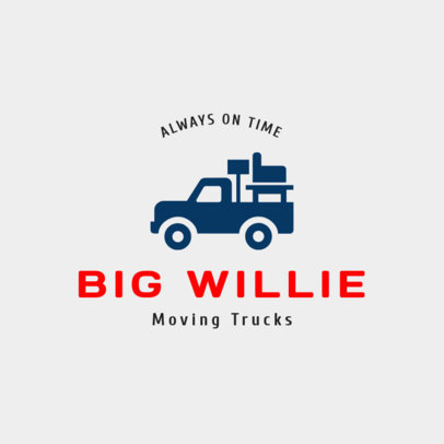 Moving Services Logo Generator with a Truck Clipart 1385a