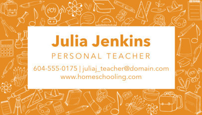 Business Card Generator for Teachers 575
