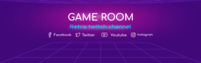 Retro Gaming Twitch Channel Banner Template 577