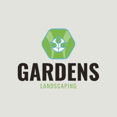 Landscaping Logo Template with a Plant Icon 1422