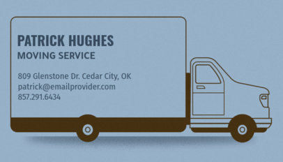 Removalist Business Card Template With Truck Graphics 556c