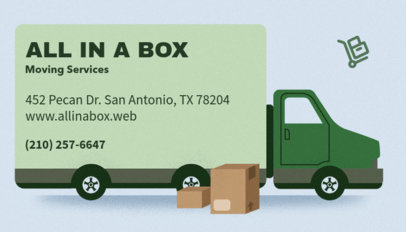 Great Business Card Generator for Moving Companies 556d