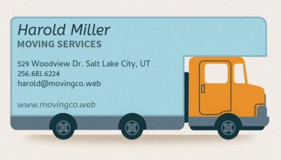 Moving Service Provider Business Card Maker 556e