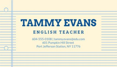 Online Business Card Maker for English Tutors 575a