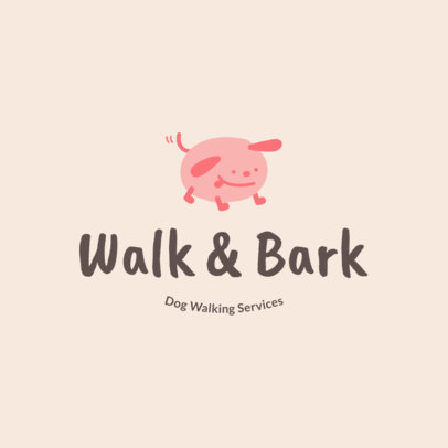 Dog Walker Logo Template for Dog Walking Services 1434f