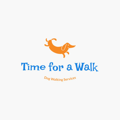 Dog Walker Logo Template 1434e