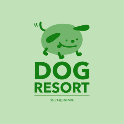 Dog Resort Logo Template 1433a