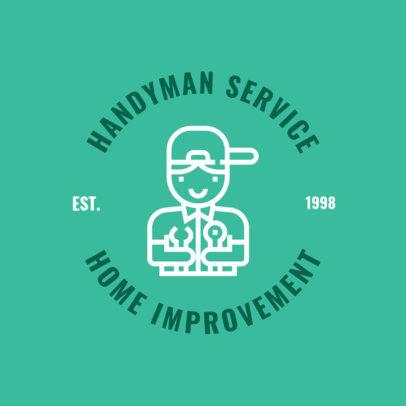 Handyman Logo Template with Illustration 1427