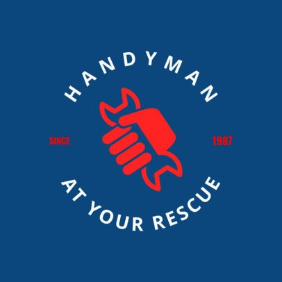 Circular Logo Template for Handyman 1427b