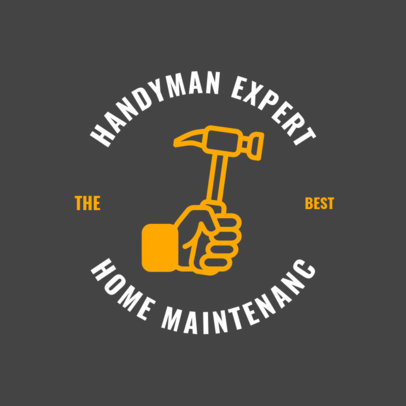 Handymen Services Logo Template with a Tool Image 1427e