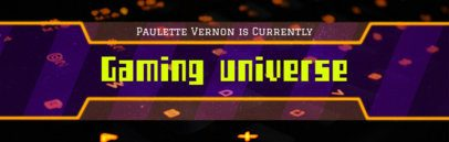 Online Banner Maker for Twitch with Retro Video Game Font 592d