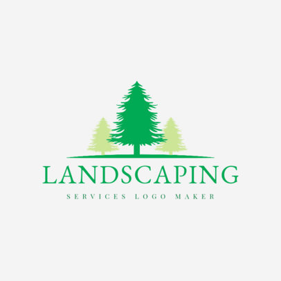 Landscaping Logo Creator with a Tree Icon 1423
