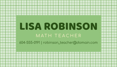 Online Business Card Maker for Math Teachers 575c